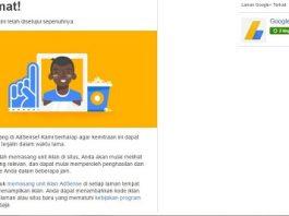 Diterima Adsense Setelah Blog di Tolak Adsnese dan Masuk Ke Google Sandbox (Deindex)