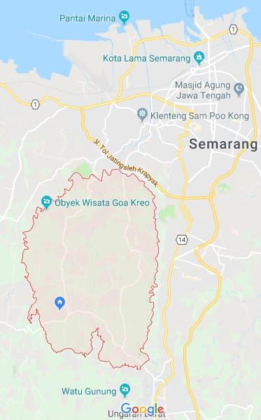 Peta Kecamatan Gunungpati Semarang Google Map