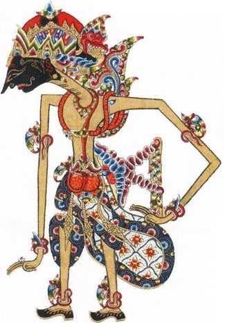 Gambar Wayang Kulit - Prabu Dasarata - Ayah Sri Rama Wijaya