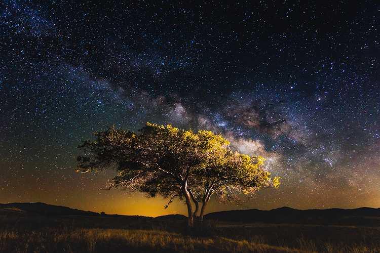 Foto Pusat Galaxy Bimasakti dari Bumi