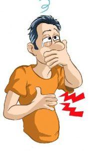 Sakit Perut Prih, Mual dan Muntah