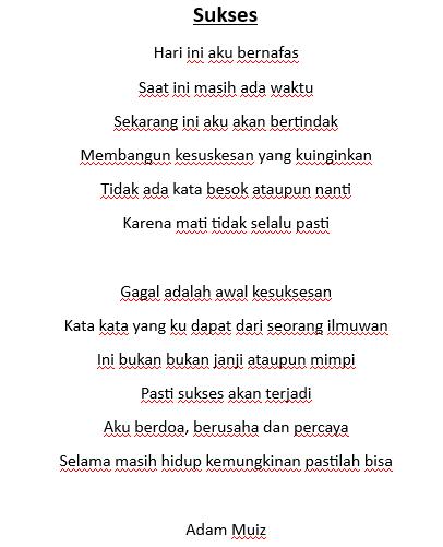 Puisi Singkat