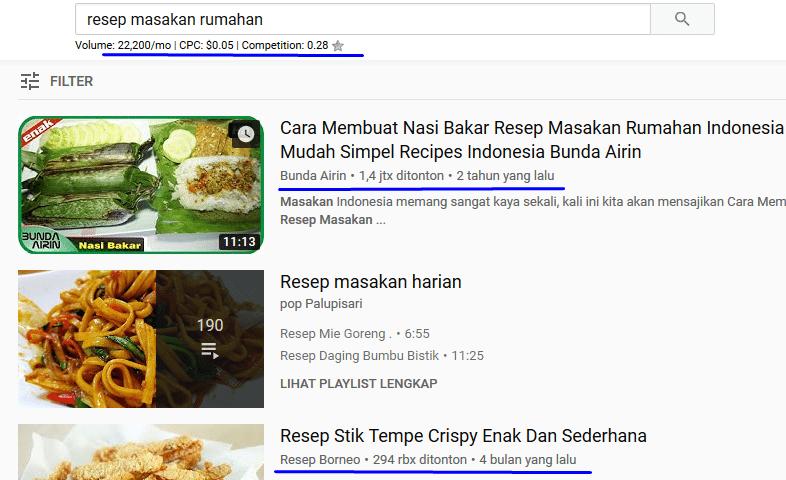 Cara Cari Keyword Youtube