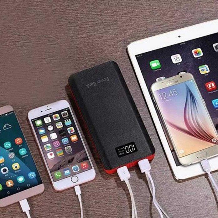 Harga uNiQue_Power_Bank_LED_30000mAh_4_USB_Port