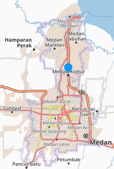 Peta Medan Sumatra Utara