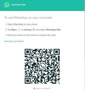 QR Code WA Web