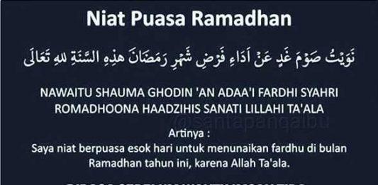 Niat Puasa Ramadhan Teks Arab, Latin dan Artinya