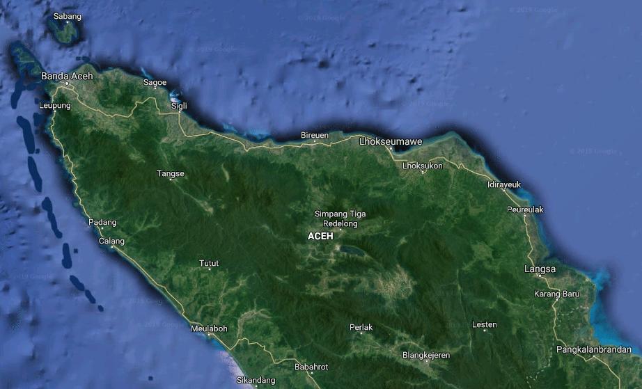 Peta Aceh Sejarah Dan Letak Lokasi Geografis Jagad Id