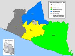 Peta Kecamatan Kota Yogyakarta