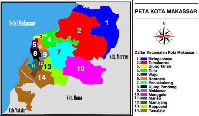 Peta Kota Makassar Gambar Sejarah dan Letak Lokasi Geografis