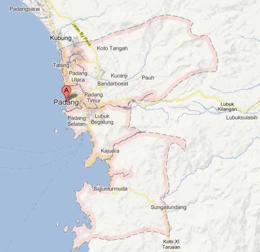 Peta Kota Padang