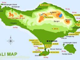 Peta Provinsi Pulau Bali