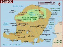 Peta Pulau Lombok