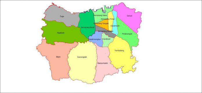 Peta Wilayah Daftar Kecamatan Kota Semarang