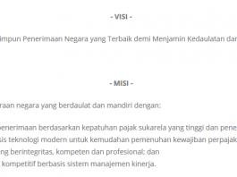 Contoh Visi dan Misi Dirjen Pajak Indonesia