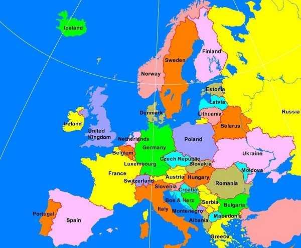 Karakteristik Benua Eropa Luas, Letak dan Iklim
