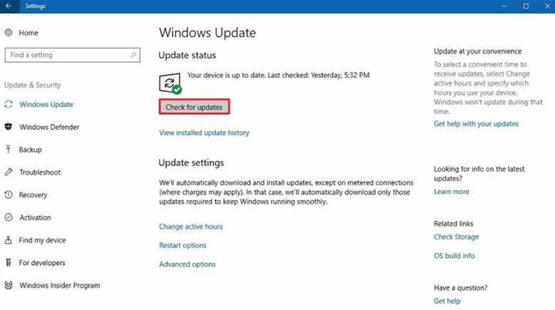 Update Windows 10 Dengan Windows Update