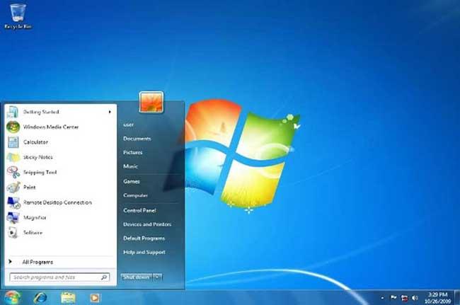 Tampilan Desktop Windows 7