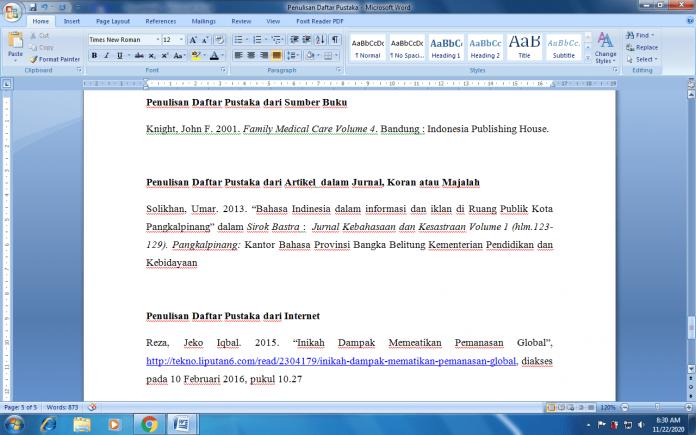 Penulisan Daftar Pustaka - Urutan, Cara Membuat dan Contoh Benar(1)